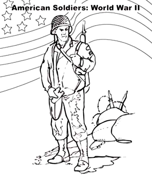 american soldier coloring pages sketch coloring page