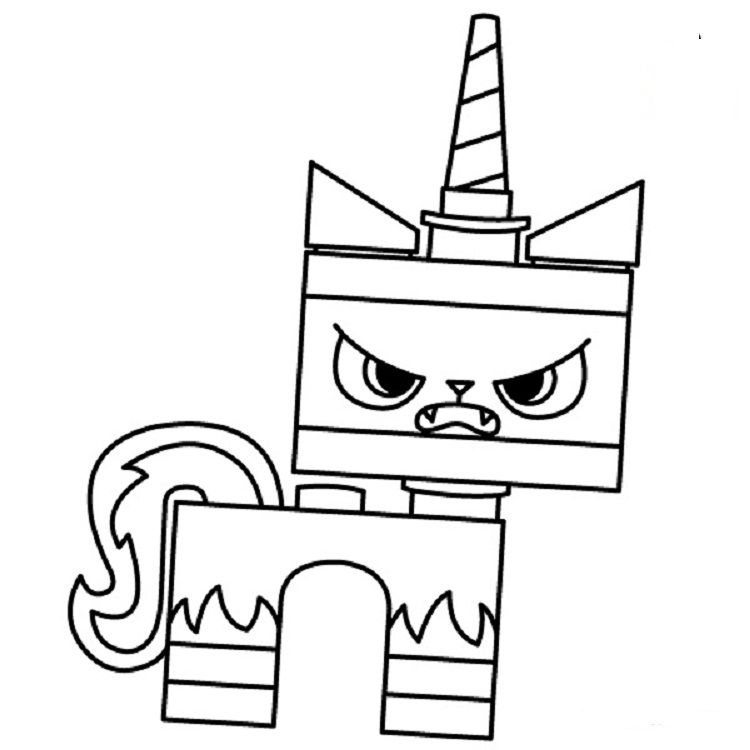 angry unikitty coloring pages lego coloring pages