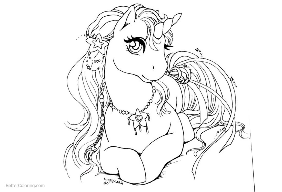 awesome female unicorn coloring pages queen free