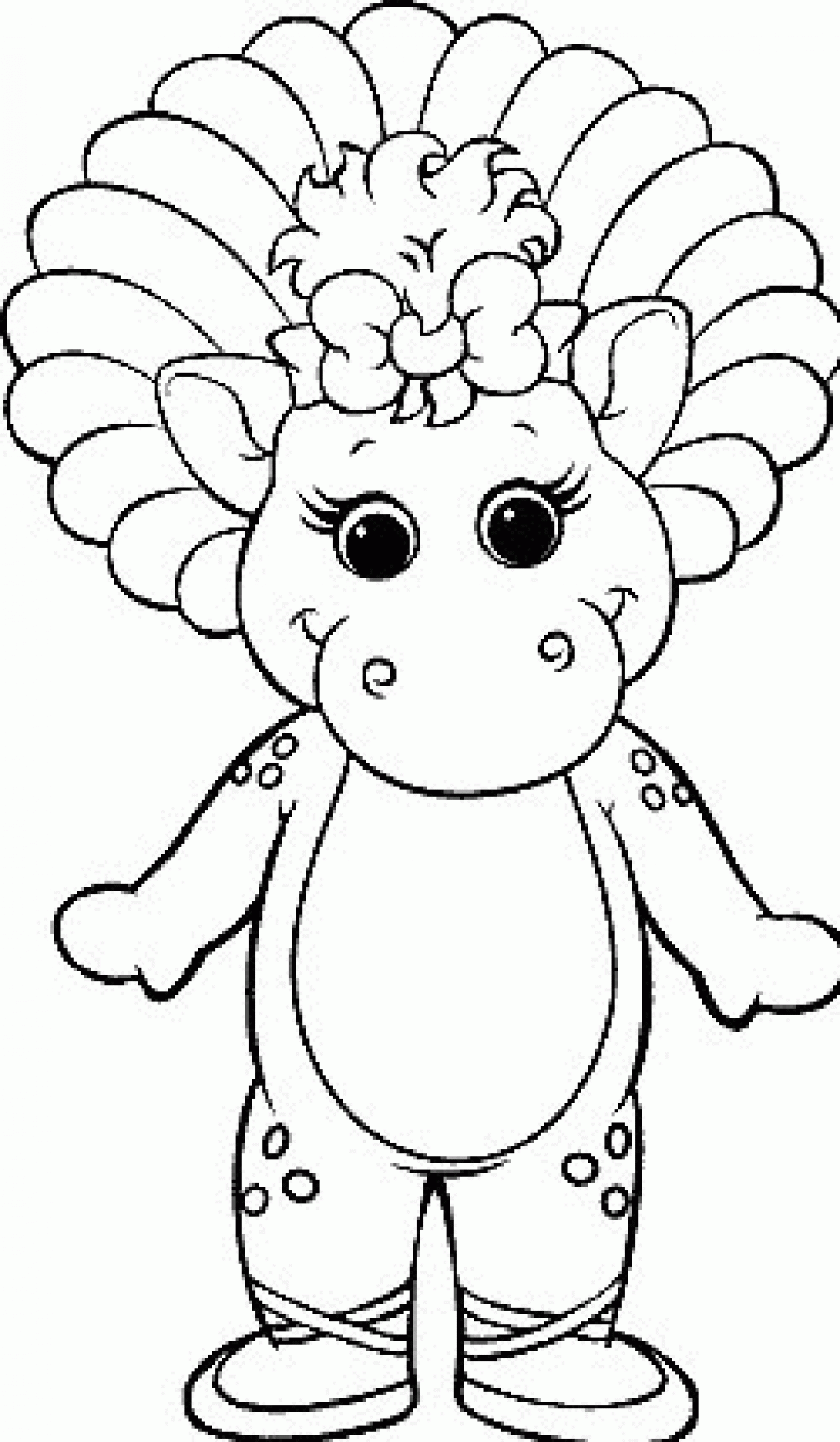 barney and friends 142 cartoons printable coloring pages