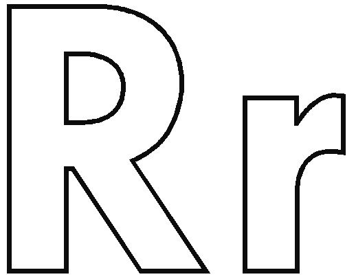 bubble letter r coloring pages letter r lettering