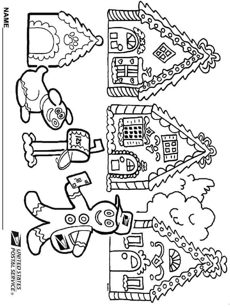 christmas gingerbread coloring pages free printable