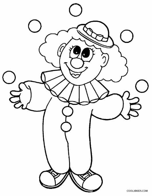 clown coloring pages coloring pages free coloring pages