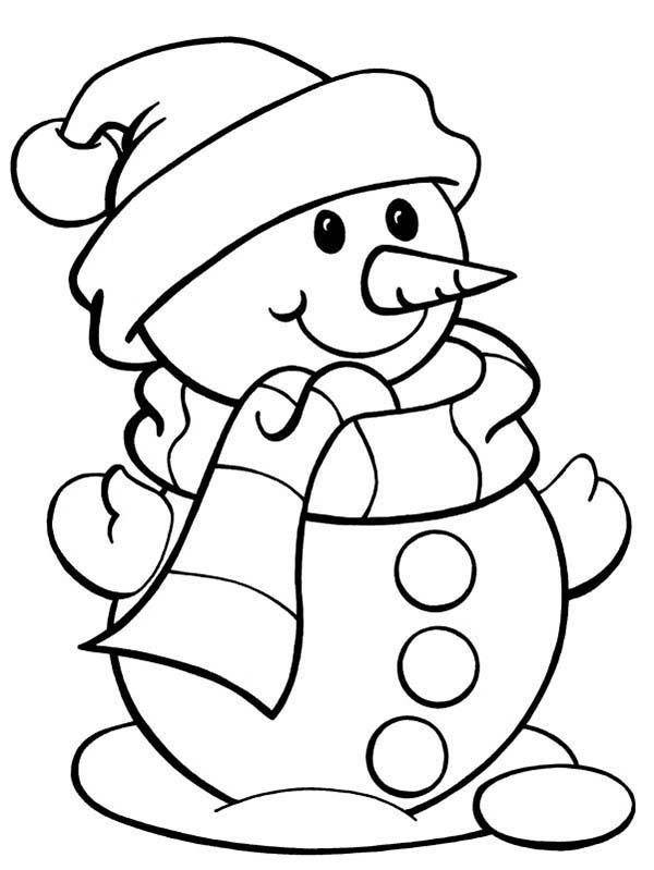 cute snowman coloring page color luna