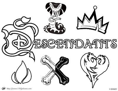 descendants disney coloring pages google search