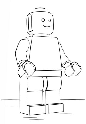 disegno di omino lego da colorare disegni da colorare e
