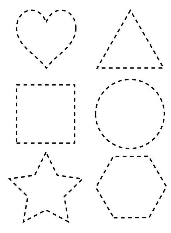 dotted line shapes coloring page netart shape coloring