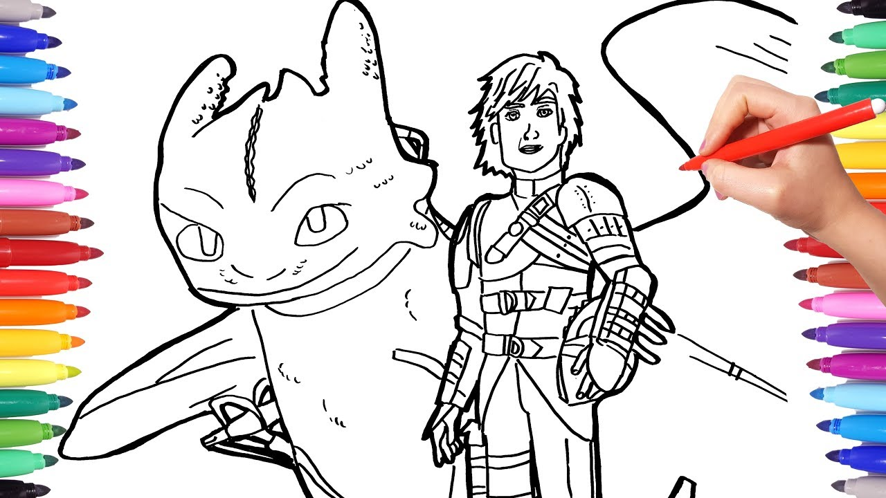 dragon trainer 3 coloring pages watch how to draw hiccup