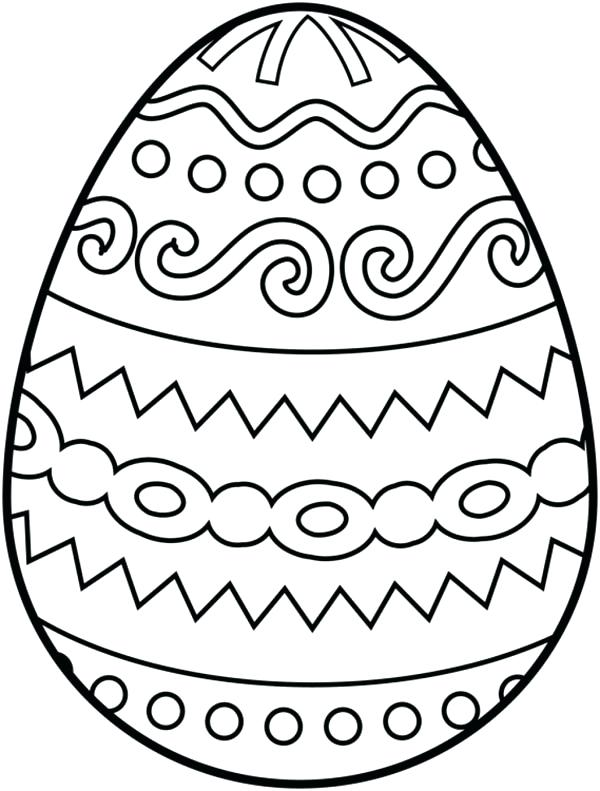 easter egg drawing to colour at getdrawings free download
