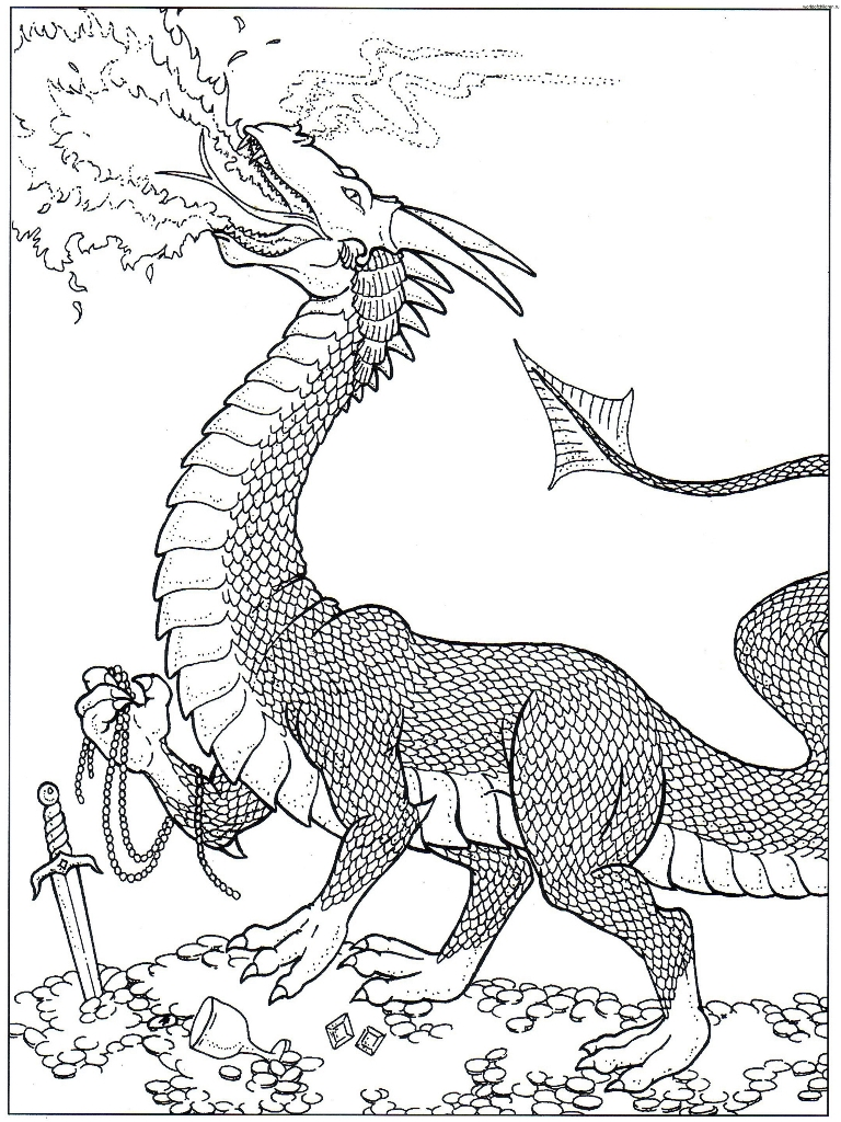 fire dragon coloring pages getcoloringpages