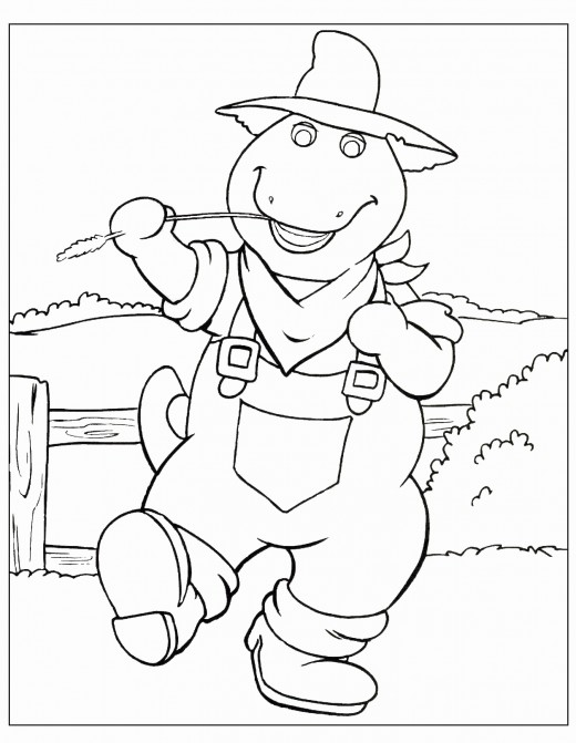 free printable barney coloring pages hubpages