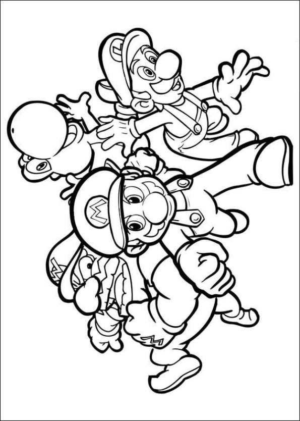 free printable coloring page super mario bros mario