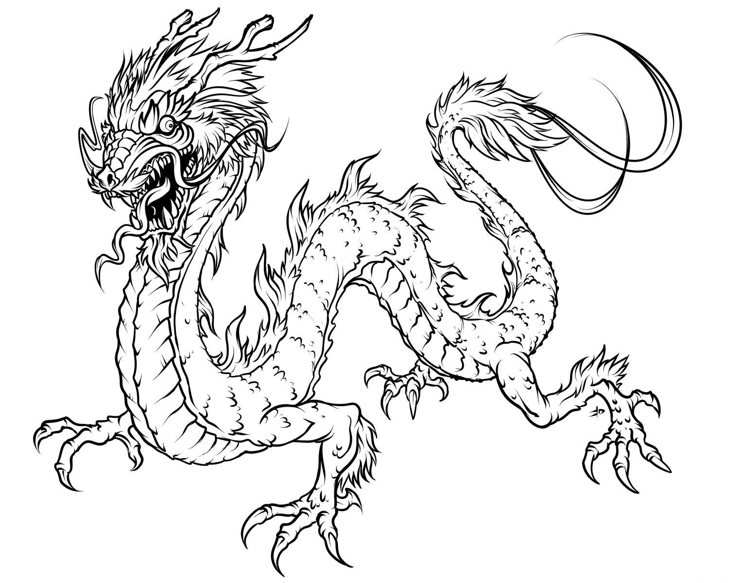 free printable dragon coloring pages for kids with images