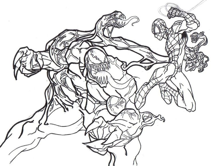 free printable venom coloring pages for kids spiderman