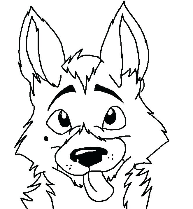 German Shepherd Coloring Pages Picture - Whitesbelfast