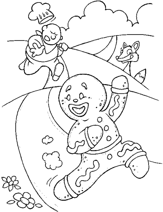 gingerbread cookie coloring page at getcolorings