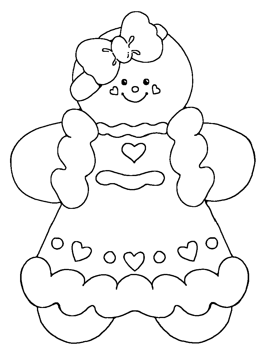 gingerbread girl coloring page timeless miracle