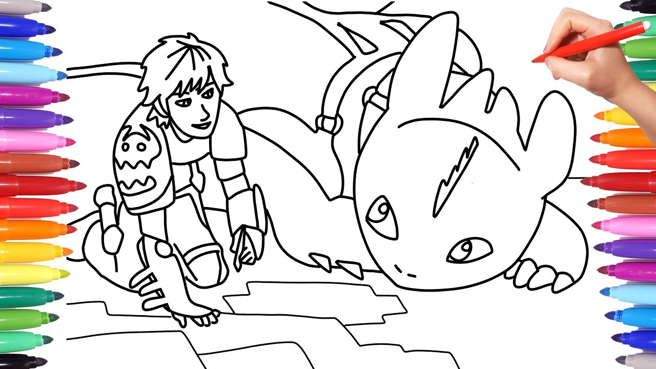 how to train your dragon 3 the hidden world coloring pages