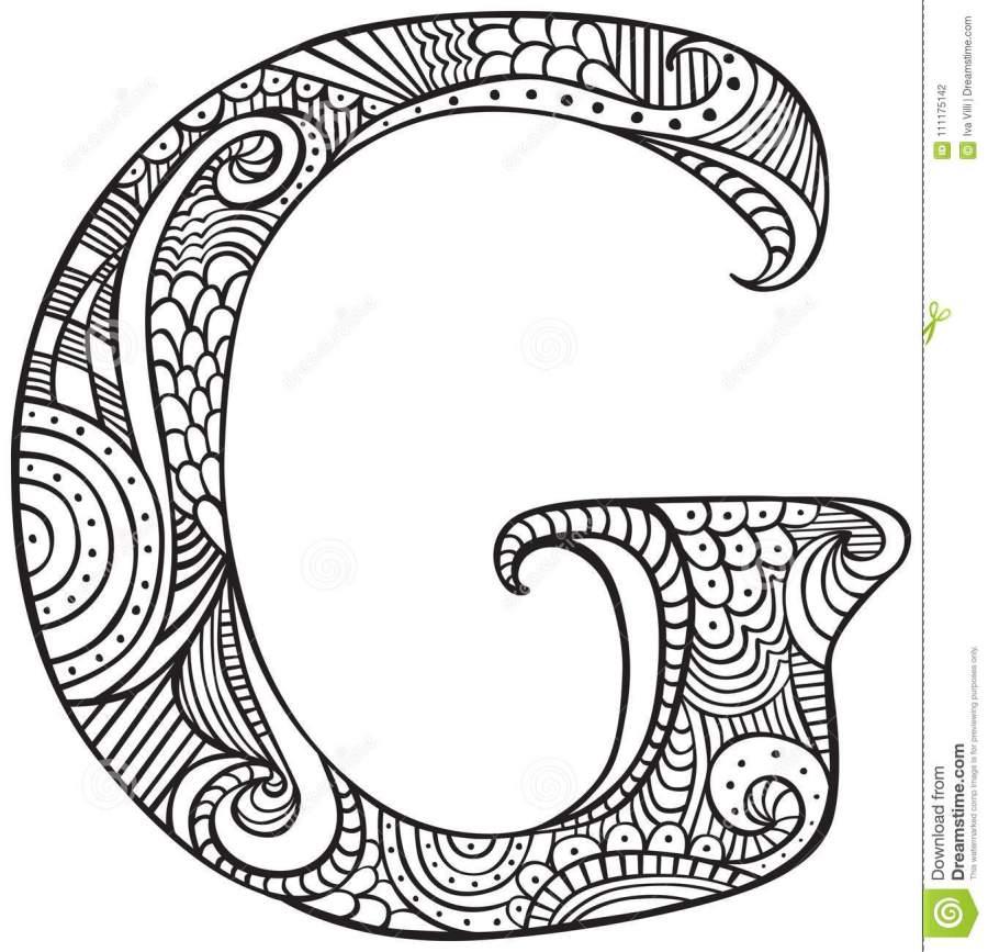 illustrated letter g stock vector illustration of capital
