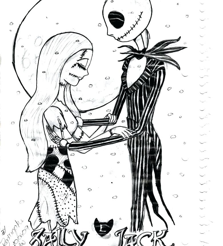jack skellington coloring pages printables at getcolorings