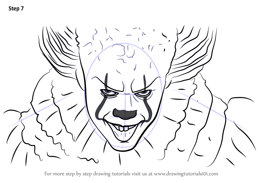 learn how to draw pennywise characters step step