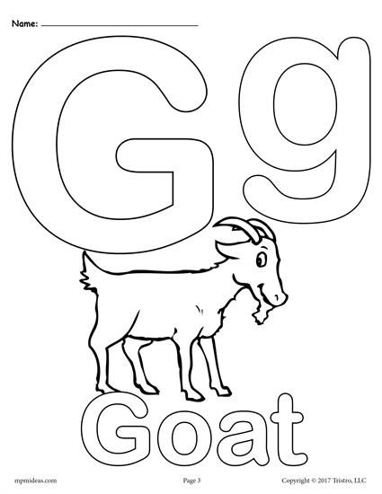 letter g alphabet coloring pages 3 printable versions