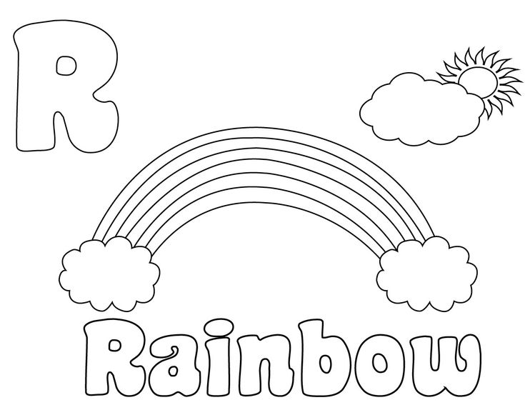 letter r coloring pages for preschool coloring pages