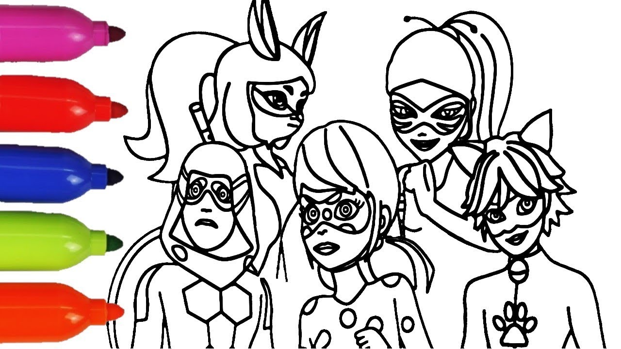 miraculous ladybug all new heroes coloring book for kids