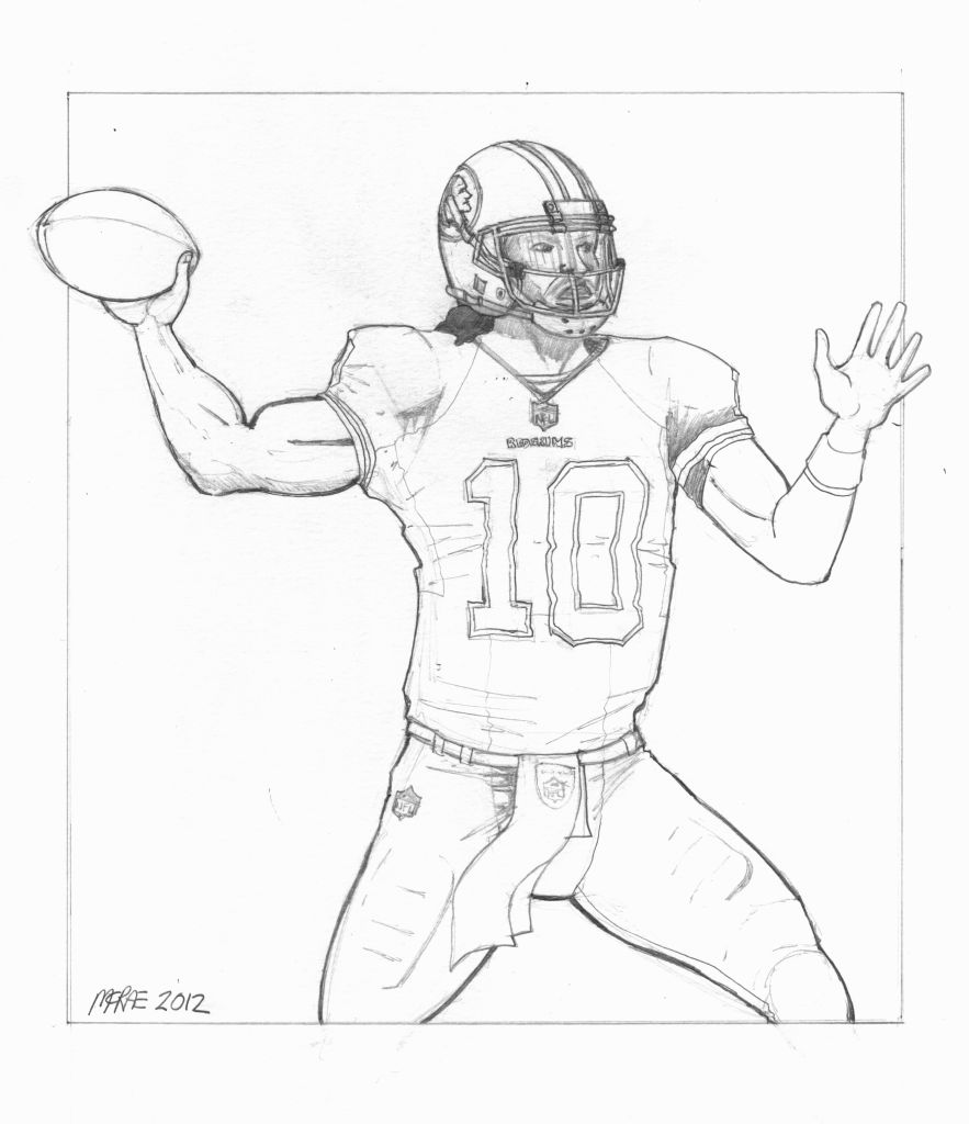 nfl football players drawing at getdrawings free download