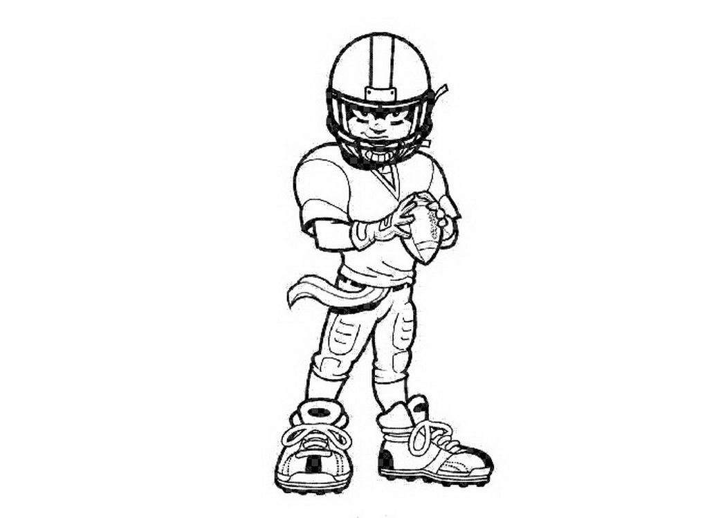 nfl football players drawings clipart best