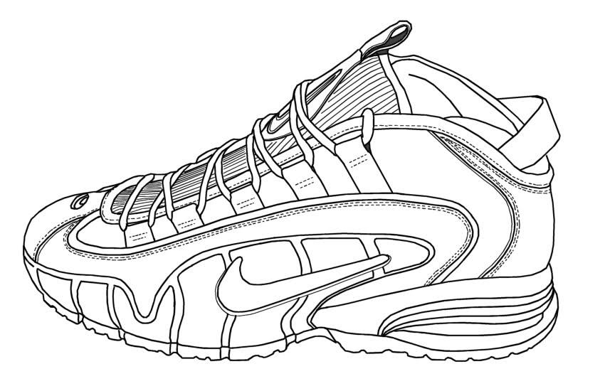 nike shoe drawing at getdrawings free download