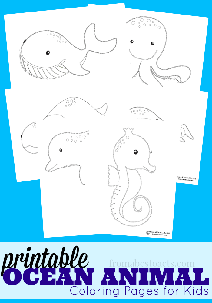 ocean animal coloring pages from abcs to acts