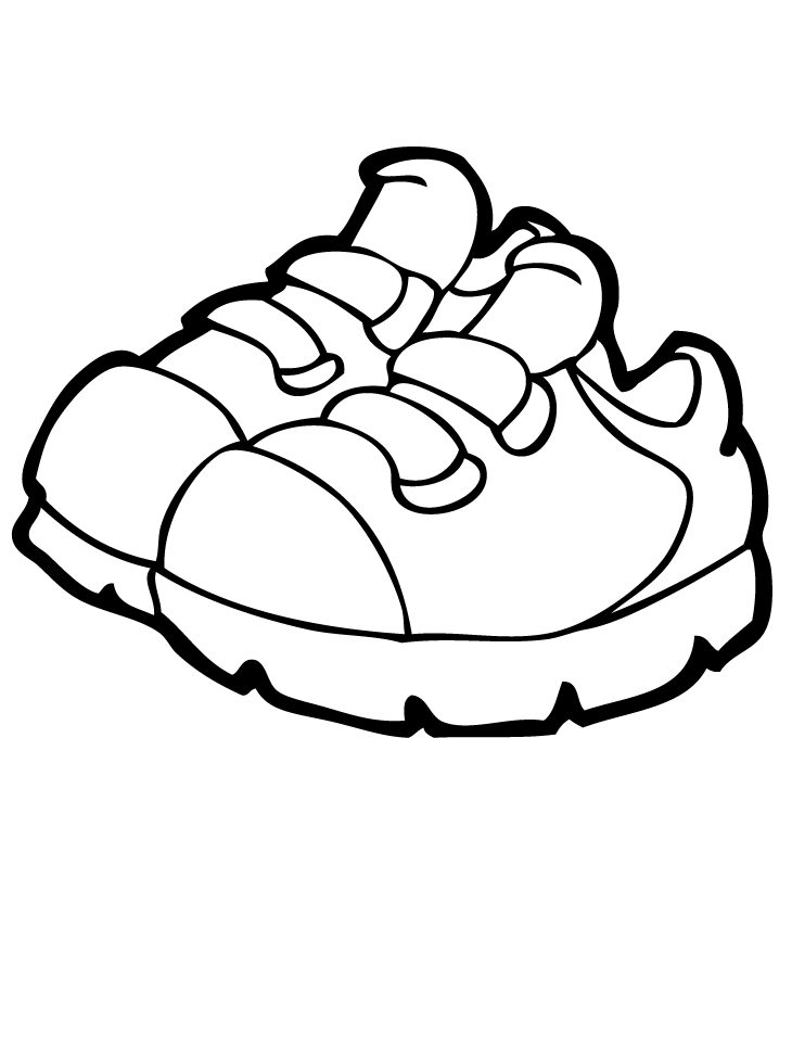pair of shoes coloring coloring pages