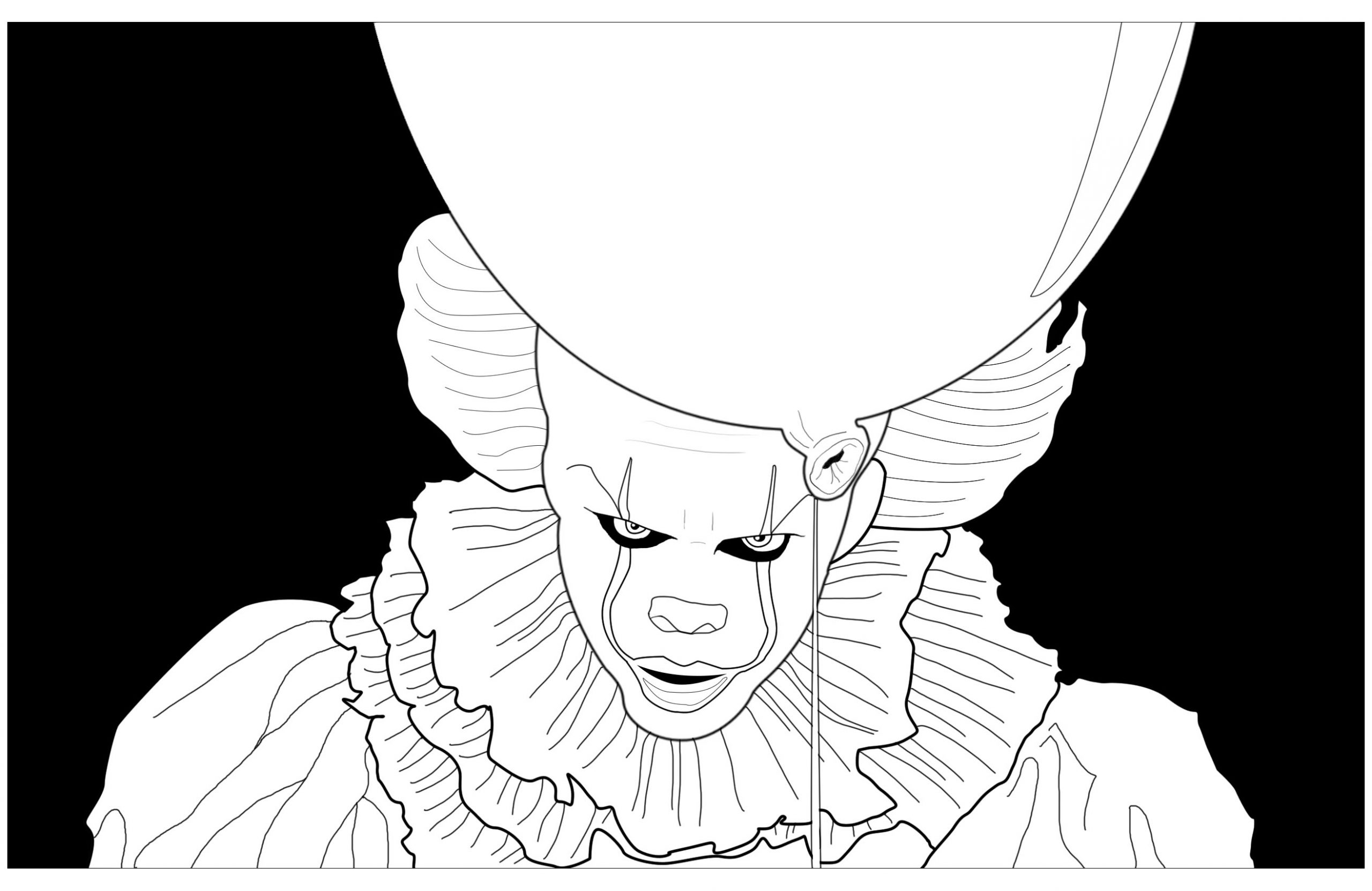 pennywise coloring pages gallery coloring for kids 2019
