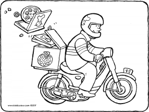 pizza courier kiddicolour