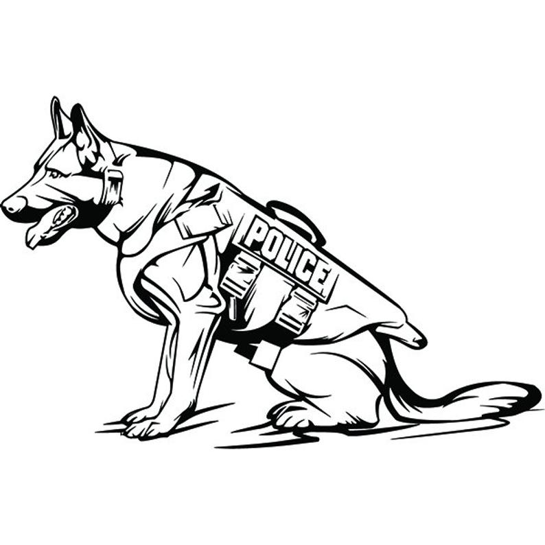 police dog drawing free download on clipartmag