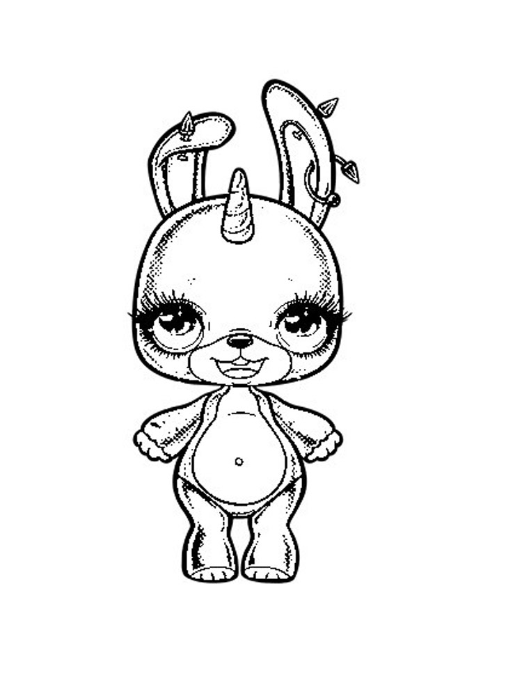 poopsie slime surprise unicorn coloring pages for kids