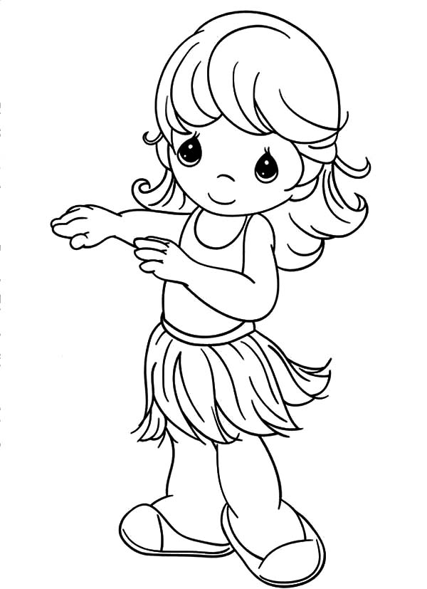 precious moments hula girl coloring pages coloring sky