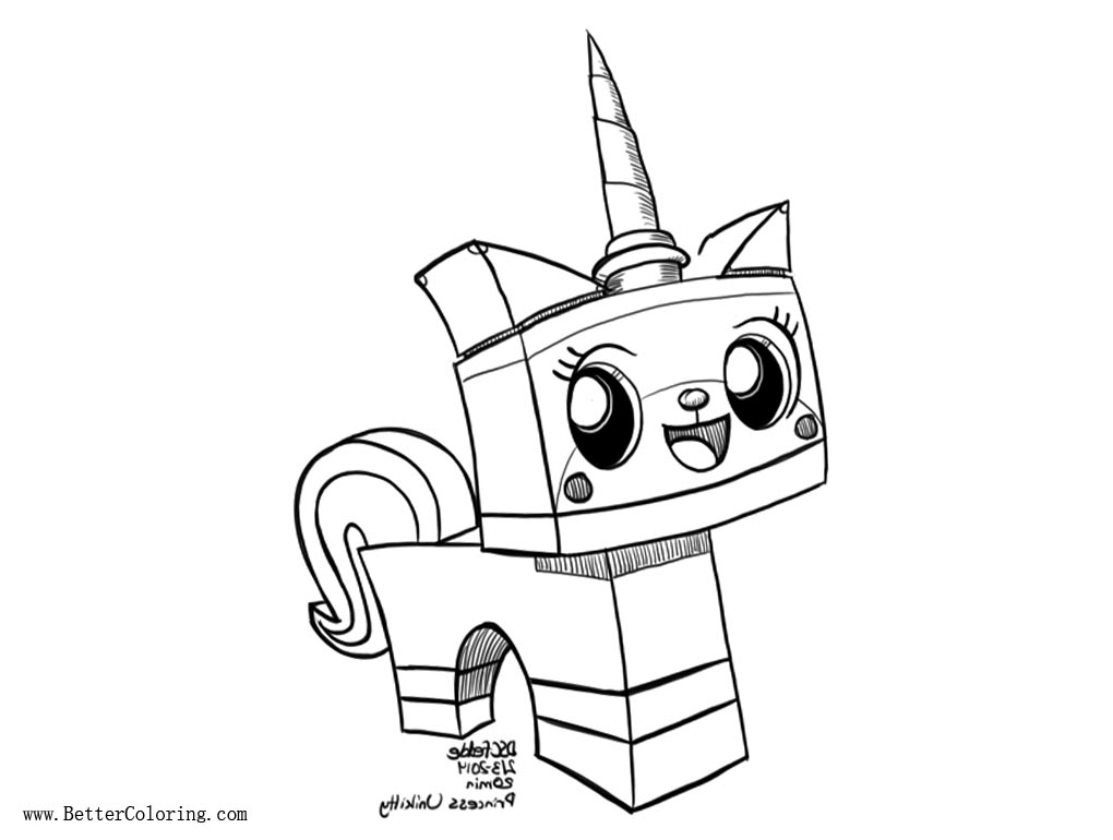 princess page unikitty coloring pages