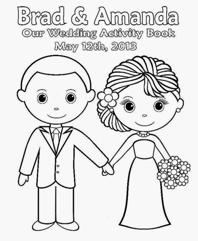 printable wedding coloring book