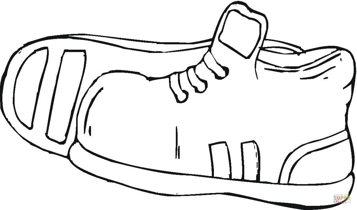 running shoe coloring page clipart best