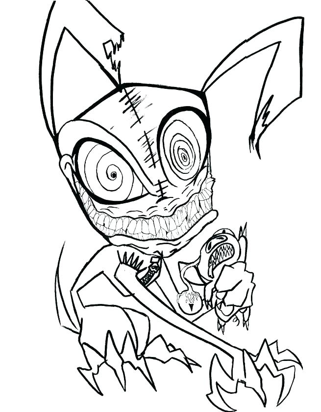 scary monster coloring pages at getcolorings free
