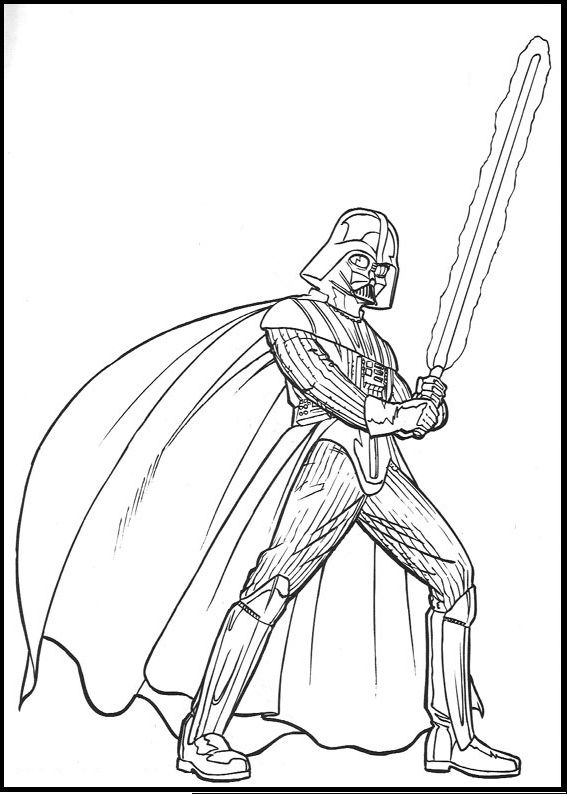 star wars darth vader coloring picture for kids coloring