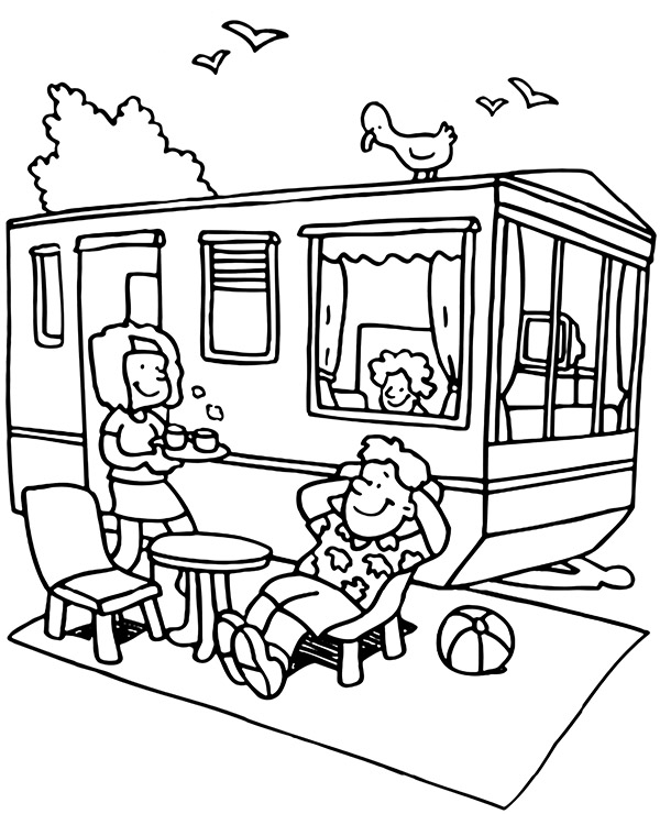 summer camping coloring picture topcoloringpages