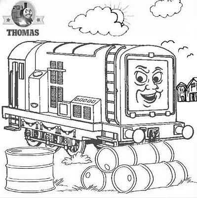 thomas and friends diesel does it again train coloring