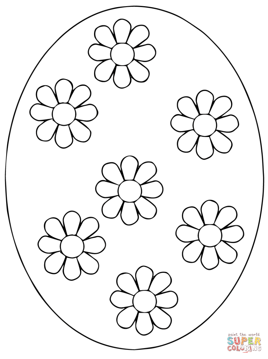 ukrainian easter egg coloring page free printable