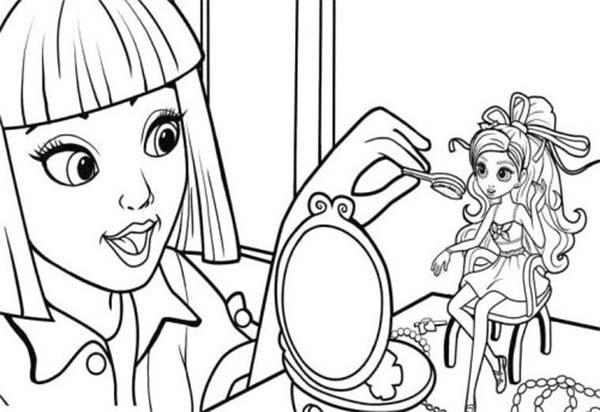 vanessa doing make up on barbie thumbelina coloring pages