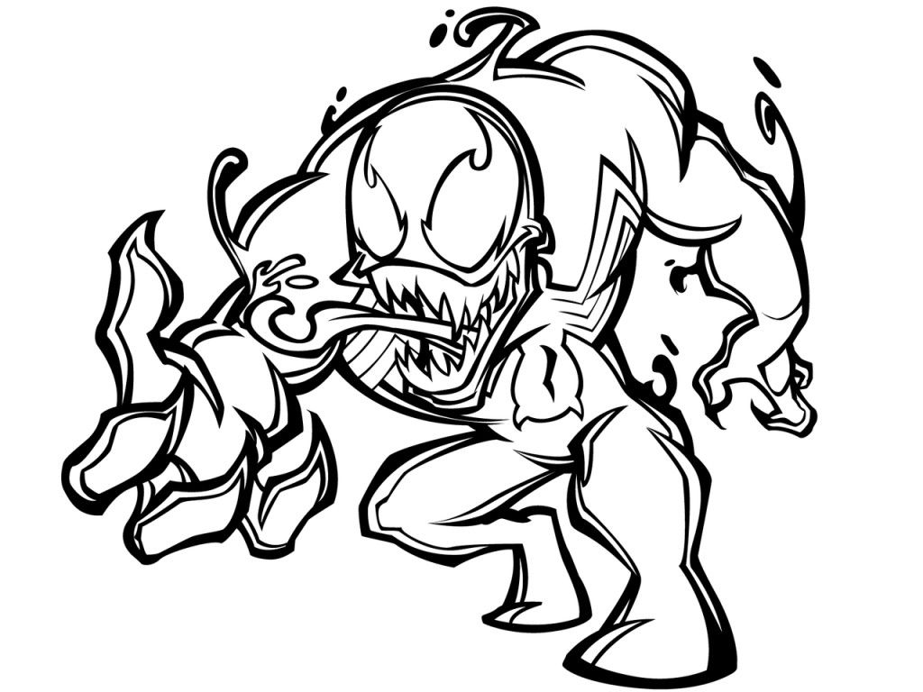 venom coloring pages tattoo