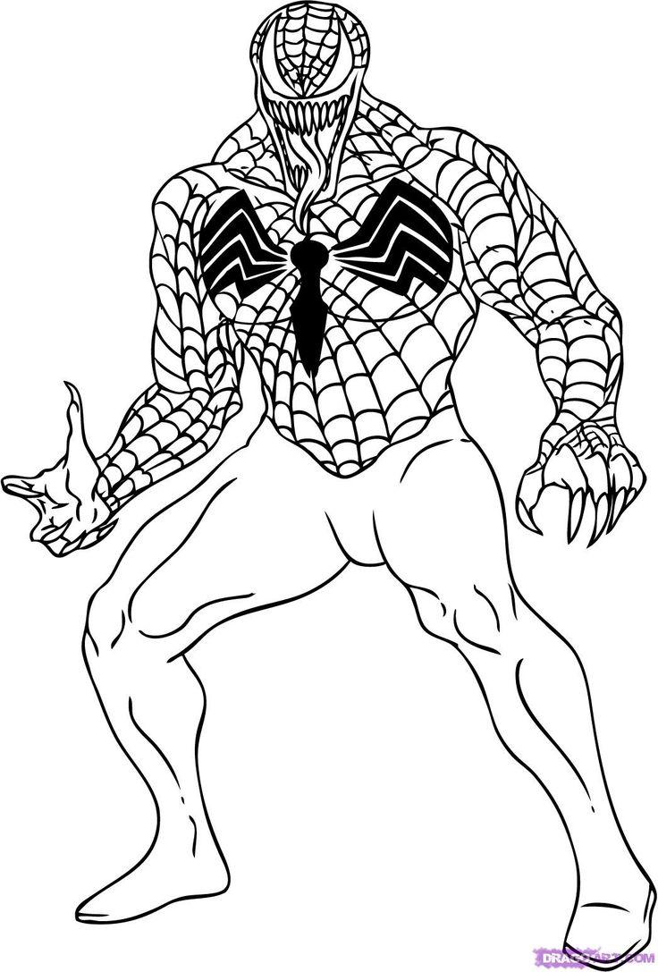 venom coloring pages