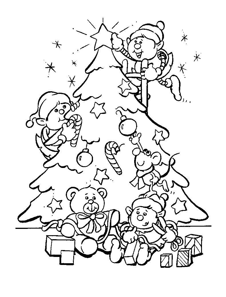 christmas tree to color for kids christmas tree kids